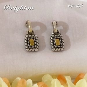 Brighton Earrings Two Tone Silver Gold Post Dangle Vintage